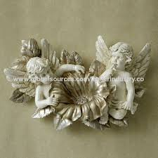 china angel resin figurines wall plaque