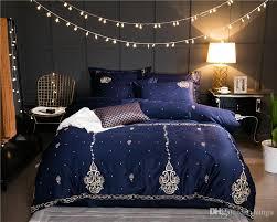 2017 new luxury egyptian cotton bedding set golden embroidery duvet cover sets oriental vintage style bed linen bedclothes twin bedding sets egyptian cotton
