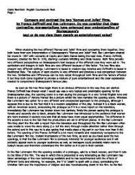 romeo juliet baz luhrmann essay format formatting thesis  romeo juliet baz luhrmann essay format