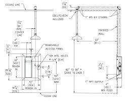 height for shower valve shower faucet height standard shower valve height shower faucet rough in inspirational
