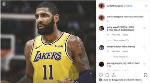 LeBron James liked Instagram post of Kyrie Irving in Lakers jersey - Sports  Illustrated