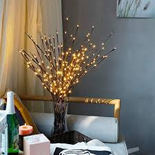 <b>LED Lighted</b> Twig <b>Branches</b> Battery Operated Vase Decorative ...