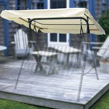 2 seater wooden garden swing have a patio cushions and