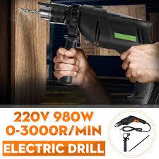 Drillpro 220V 980W Cao Cấp Điện Tác Động Khoan Vặn Vít Máy Mài Góc Máy Đánh  Bóng Cắt Bê Dụng Cụ Khoan Điện