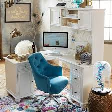 office desk with hutch storage. PB Teen Chelsea Corner Desk Hutch, Large, Simply White ($439) ❤ Liked On Polyvore Featuring Home, Furniture, Desks, Semi Circle Desk, Office With Hutch Storage