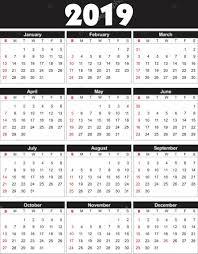 Vettore Calendar Vector 2019 Calendario 2019 In Vector Puгі Essere