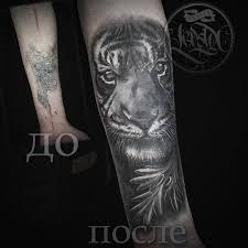 тигр тату на предплечье у парня добавлено камиль зубайдуллин
