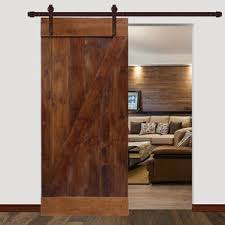 Plain Interior Sliding Barn Door Bent Strap Track Hardware 1 Panel Wood Inside Perfect Ideas