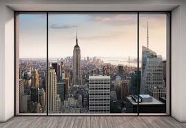 home office decorating ideas nyc. new york city scape decal wall mural design for home office decorating inspiration ideas nyc r
