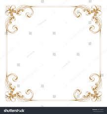 vintage frame border. Premium Gold Vintage Baroque Ornament. Frame Border. Borders Vector. Border