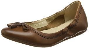 hush puppies hush puppies women s lexa heather bow ballet flats brown tan shoes hush