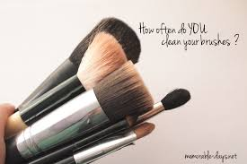 my answer i clean it once a week i tend to use a new brush every time when the used brush is dirty that s why i have so many make up brushes