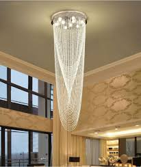 modern crystal chandeliers stair chandelier led ceiling pendant chandelier light fixtures for hotels stairs villas decoration french chandelier plastic