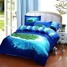 navy blue bedding set blue sea island bedding set queen size cotton bed sheet quilt within