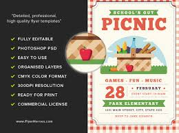 Picnic Flyers Schools Out Picnic Flyer Template Flyerheroes