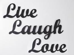 image is loading live laugh love metal wall art words sign  on metal wall art words love with live laugh love metal wall art words sign black accents cursive ebay