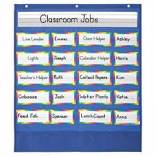 Carson Dellosa Deluxe Scheduling Pocket Chart Classroom Helpers Pocket Chart