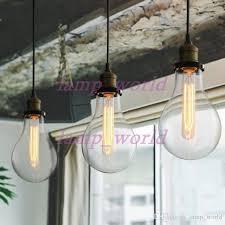 teardrop clear glass filament single pendant lamp hanging lighting water drop transpa vintage bulb loft bar suspension light mega bulb ceiling pendant