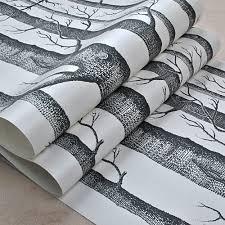 Schwarz Weiß Birke Baum Tapete Für Schlafzimmer Moderne Design
