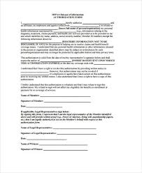 Hipaa Authorization Form New 48 HIPAA Release Form Samples Free Sample Example Format Download