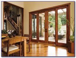 sliding 4 panel glass patio doors