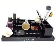 chanel set of 3 vanity cosmetic organizers vip gift new in box