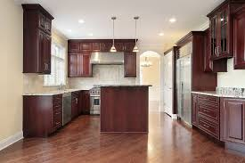 A Mahogany Wood Kitchen Cabinets Images