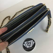 chanel zip wallet. chanel bags - chanel double zip boy wallet on chain blue caviar q