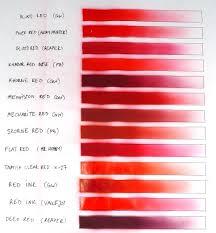 Red Paints Comparison Chart Fantasygames Com Pl