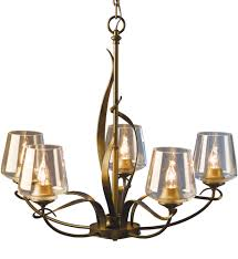 hubbardton forge 103040 84 zm236 flora soft gold 5 arm chandelier with undefined