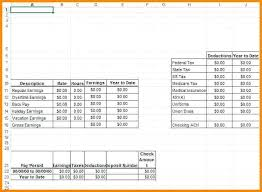 Paystub Template Excel Excel Paycheck Stub Template Free Pay Stub