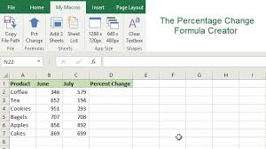 Vat Calculation Formula In Excel Download How To Quickly Create Percentage Change Formulas With A