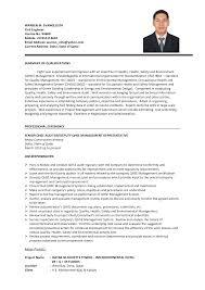 Nice Civil Engineer Cv Format Doc Crest Documentation Template