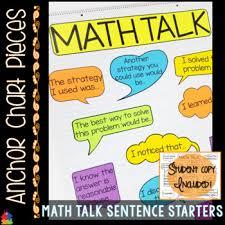 Anchor Chart Paper Anchor Chart Pieces For Math Talk Sentence Starters
