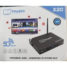 Box smart tivi vinabox X20-2020 bản Ram 4G, Rom 32G- cấu hình mạnh