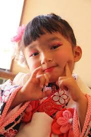 七五三 三歳 髪型 着物 編み込み ヘアアレンジ さくら市 美容室