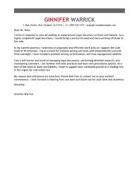 Lofty Idea Secretary Cover Letter 5 Leading Professional Legal