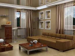 Living Room Brown Color Scheme Living Room White Pendant Lights Gray Rug Gray Sofa White Futons