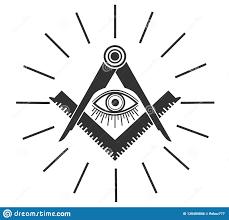 Freemason Design Masonic Freemasonry Emblem Icon Logo Vector Illuminati All
