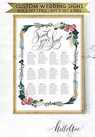 Malertaart Wedding Signs Table Numbers Wedding Seating