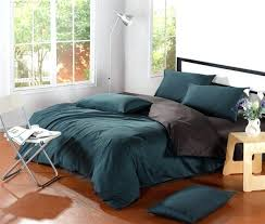 dark green duvet simple bedroom ideas with modern brown bedside table and black dark green cotton