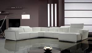 white leather couch. Contemporary White Leather Sectional Sofa With Retractable Headrests Modern-living-room Couch O