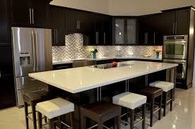 Adorable Contemporary Dark Wood Kitchen Cabinets Modern Style Dark