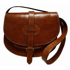 tan leather saddle bags