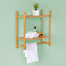 Best Living Bamboo Bath Wall-mount Shelf with Towel Bar - Free Shipping  Today - Overstock.com - 17620978
