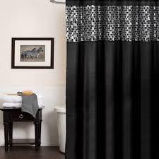 Classic Black And Silver Tile Patchwork Shower Curtain Hooks Or  Separates Overstockcom