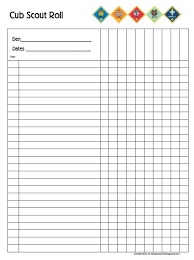 Webelos Attendance Chart Pin On Cub Scout Leaders Cub Scouts