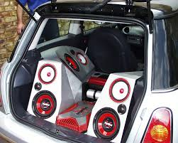 sound system car. a discreet installation of an in car sound system