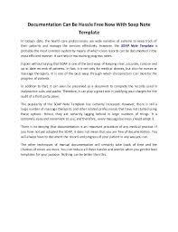 Soap Note Sample Format For Medical Documentation