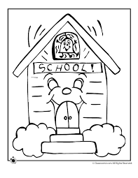 Toddler School House Coloring Pages 6153 School House Coloring